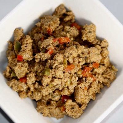 Ground Turkey Sausage With Diced Sweet Pappers