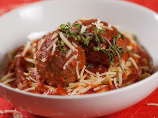 Turkey Meatballs and Veggie Spaghetti